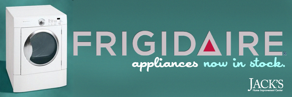 Frigidaire Appliance Logo frigidaire appliances now in stock | jack's home improvement